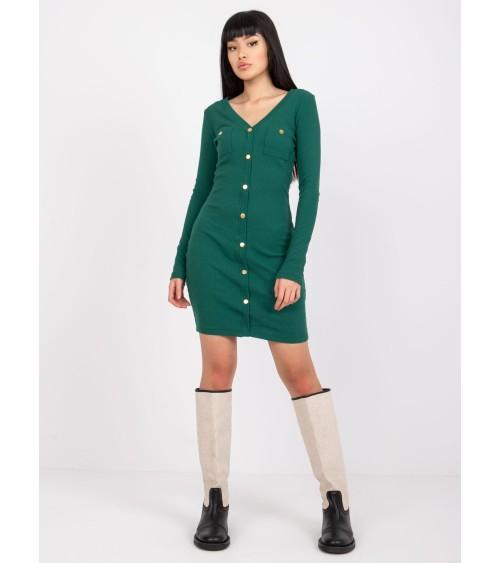 Sweter Kardigan Model BK017 Musztard - BE Knit
