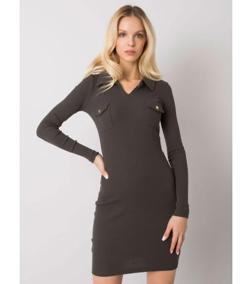 Sweter Damski Model BK009 Musztard - BE Knit