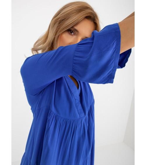 Sweter Damski Model BK048 Blue - BE Knit