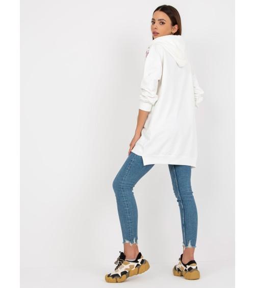 Sweter Damski Model BK047 Grey Melange - BE Knit