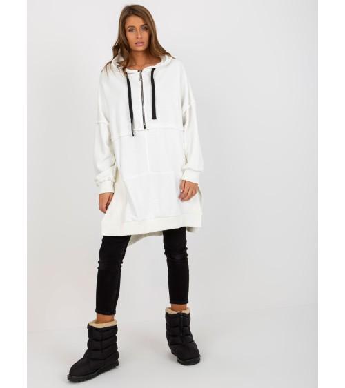 Sweter Kardigan Model BK068 Śmietana - BE Knit