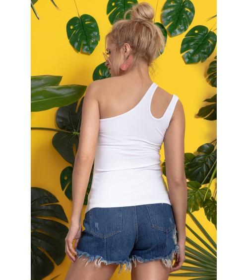 Sukienka Plażow Spódniczka Model Meg Brazilian-Bianco M-266 Yellow/White - Marko