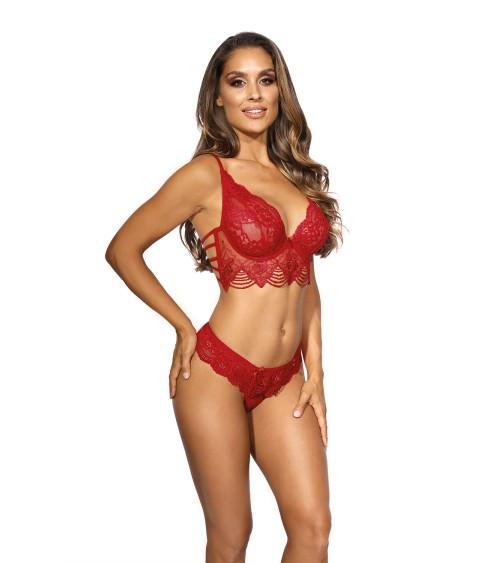 Sweter Kardigan Model 30072 Cream/Grey - PeeKaBoo
