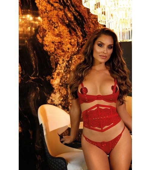 Sweter model 70002 Neon Coral - PeeKaBoo