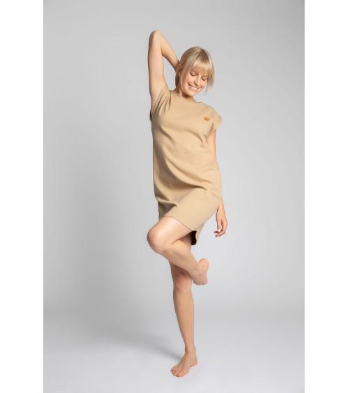Sweter Kardigan Model BK077 Camel - BE Knit