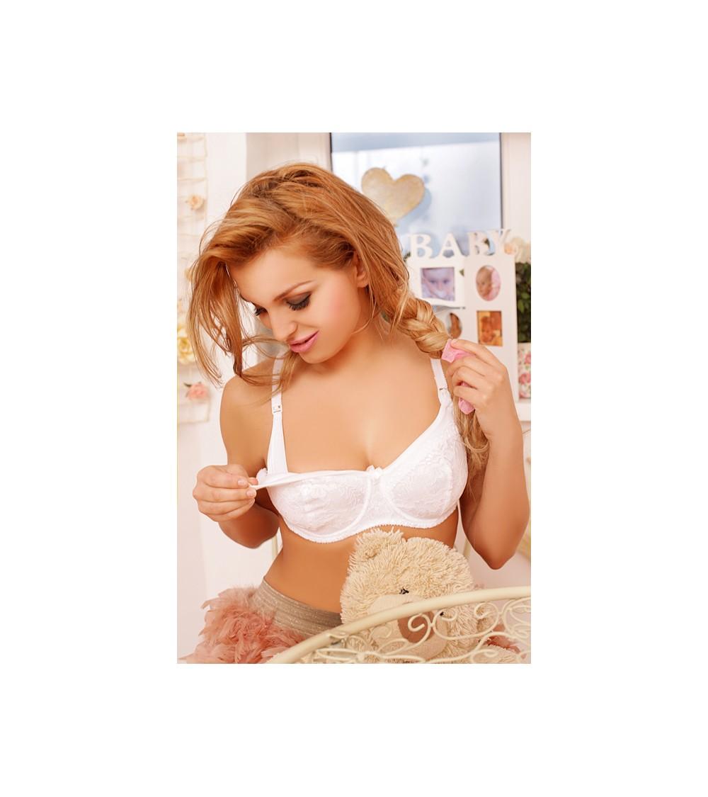 Sweter Damski Model BK075 Ecru - BE Knit
