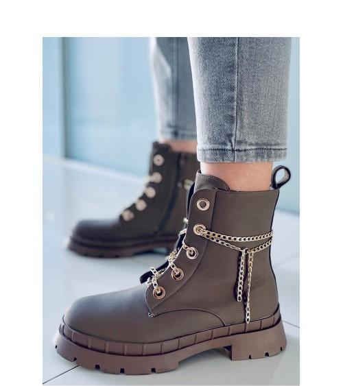 Sweter Ciążowy Model 30078 Khaki - PeeKaBoo