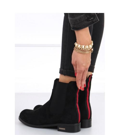 Trampki damskie za kostkę czarne 85-730 BLACK - Inello