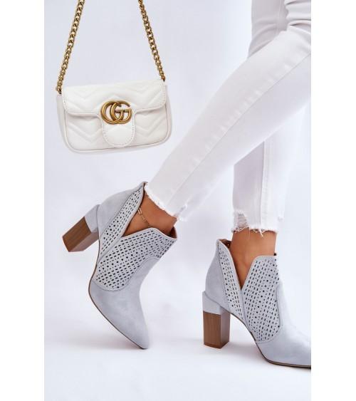 Lazurowe spodnie z rozszerzaną nogawką SD61 Lazur - Nife