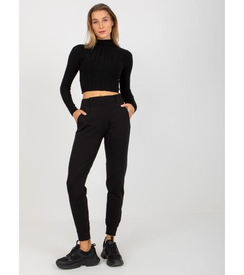 Buty za kostkę z futerkiem czarne 2C9XX064-2 BLACK - Inello