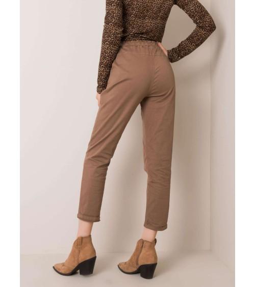 Klasyczne spodnie ze zwężanymi nogawkami SD62 Orange - Nife