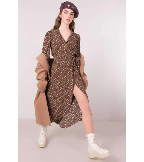 Sukienka z dekoltem w literę V CS17 Blue - Colett